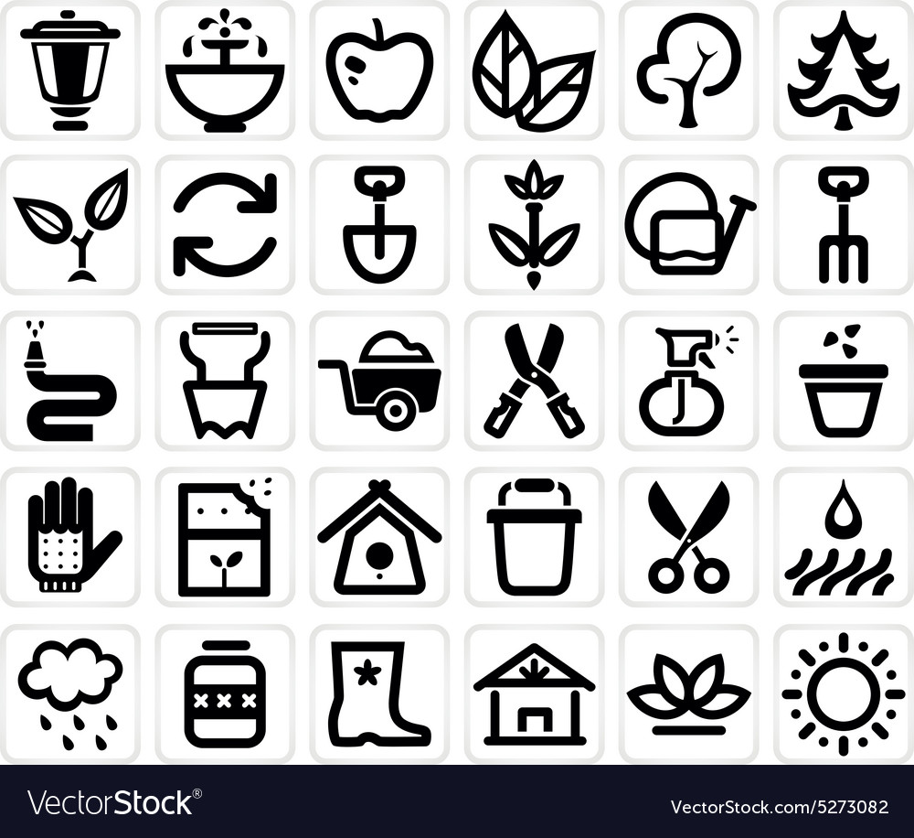 Farming and garden icon set vector
