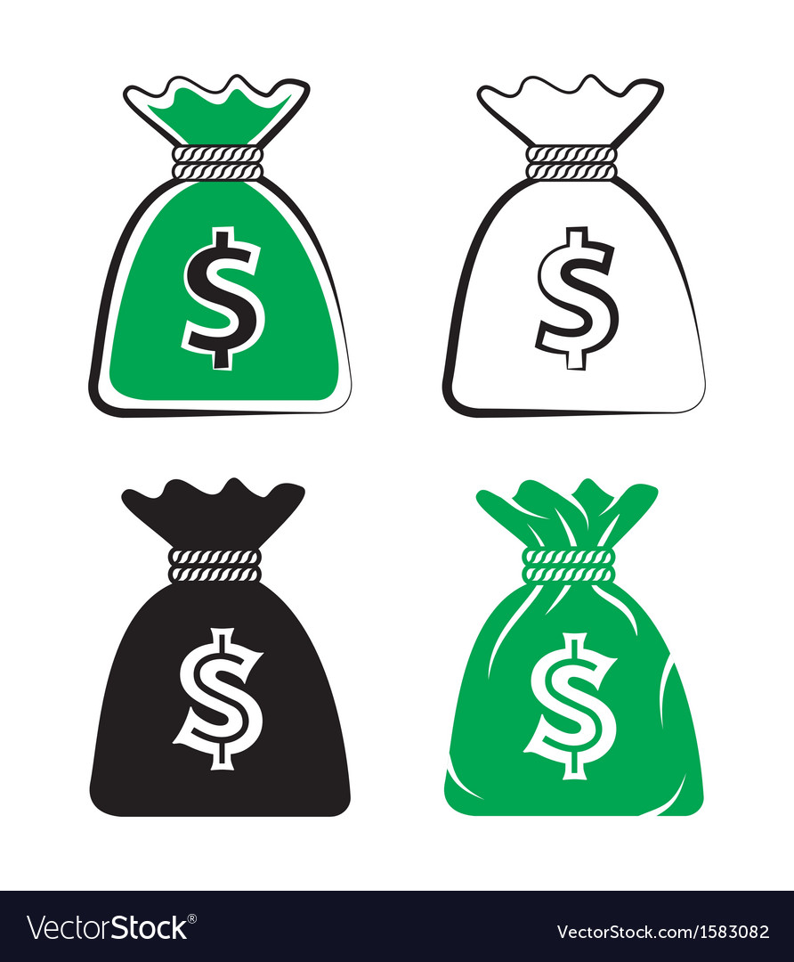 Money bag set vector