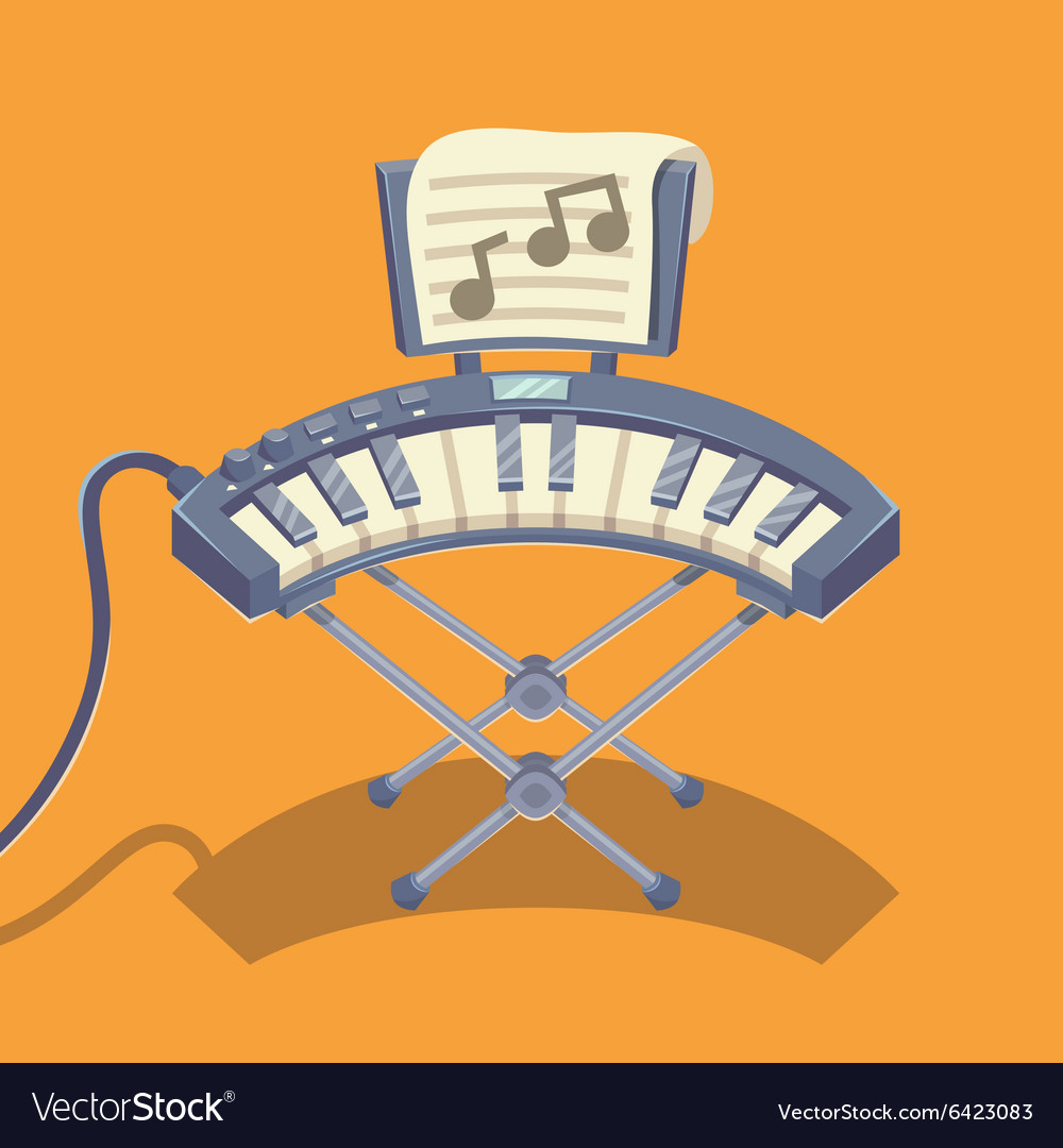 Electronic musical keyboard vector