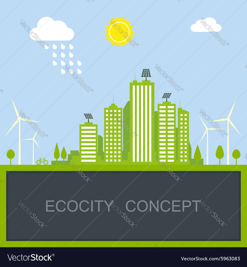 Sustainable city concept vector