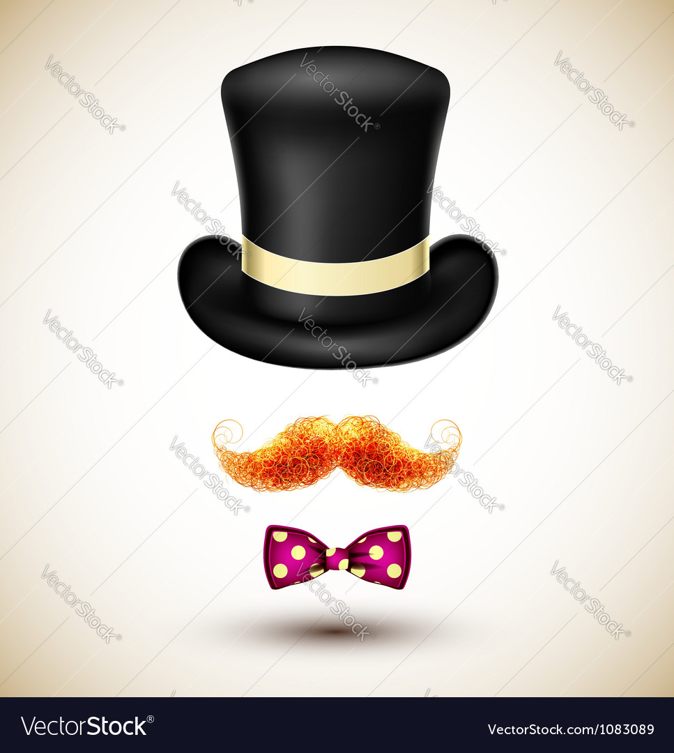 Accessories magician vector