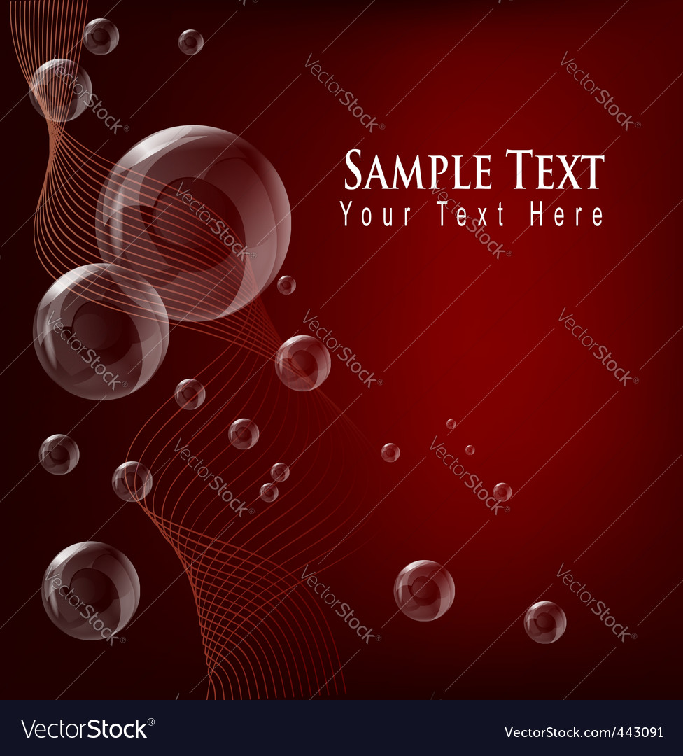 Transparent bubble red background vector