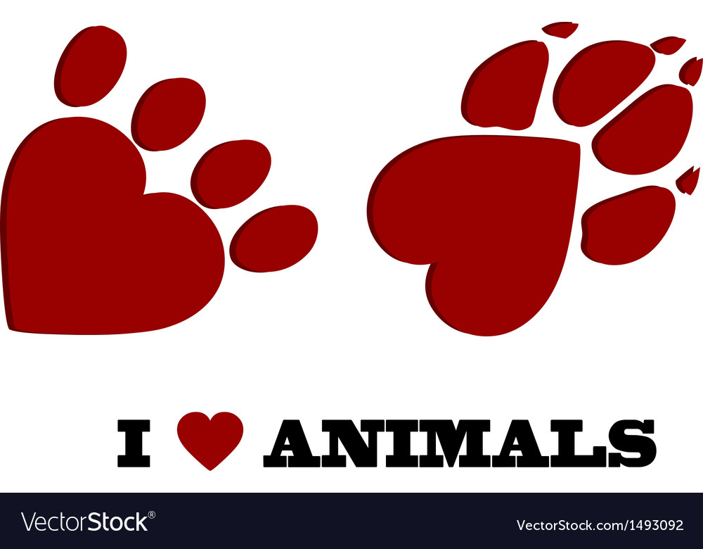 Animal love vector