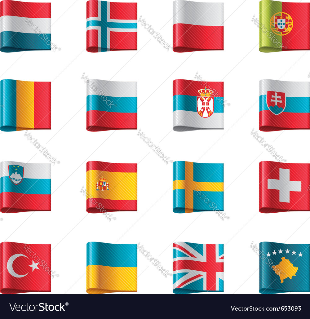 Flags  europe part 3 vector