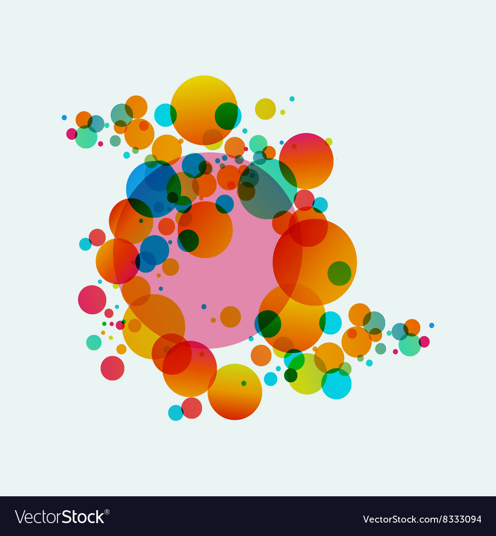 Colorful abstract background beautiful circles vector