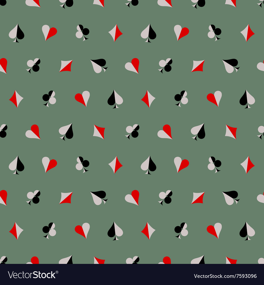 Seamless abstract pattern with icons of playings vector