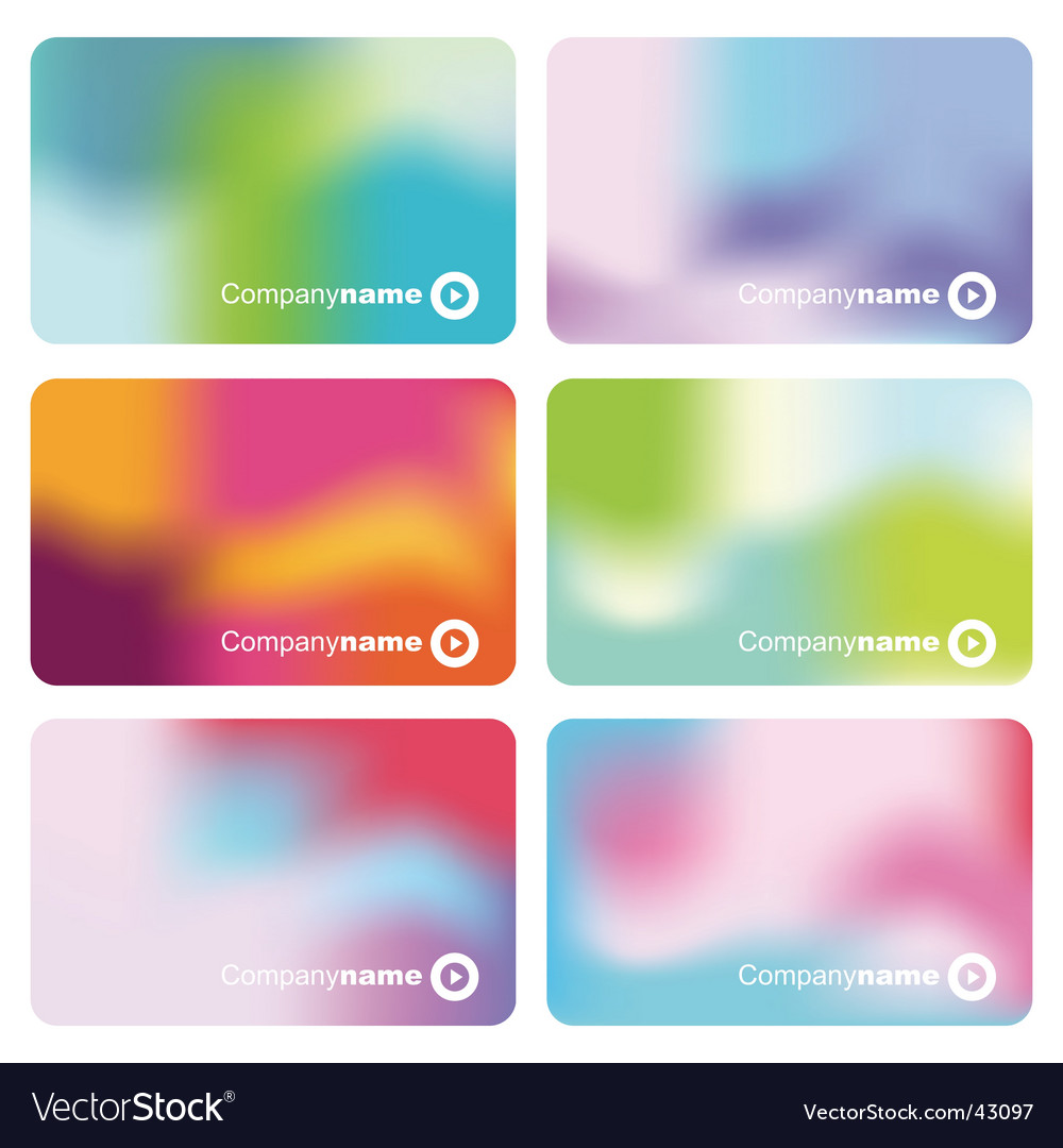 Set of colorful business cards vector