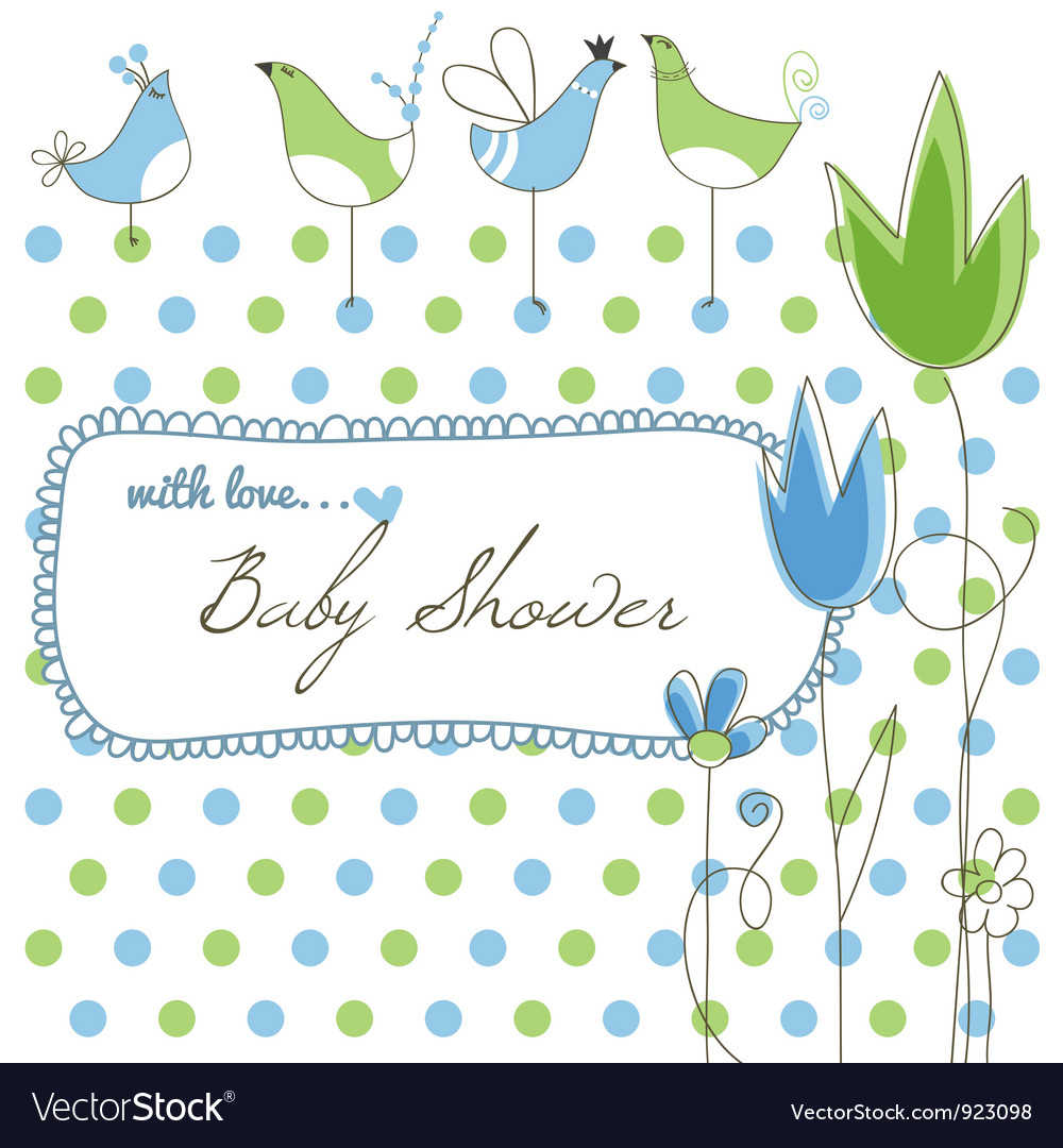 Cute baby shower vector