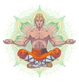 yoga man in a lotus position vector image