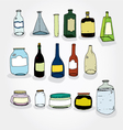 Cans and Bottles Colorful vector image vector image