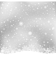 winter gray background vector image