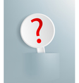 sign with a question mark vector image vector image