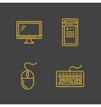 Computer devices and computer peripherals vector image