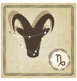 astrological sign - capricorn vector image