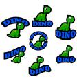 Dinosaur icons vector image