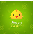 Easter Banner With Chicken vector image