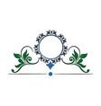 floral frame border decorative design element and vector image
