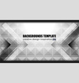 geometric grey background design vector image