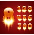 Glowing Numbers Set vector image
