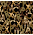 Gold letters seamless vector image