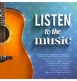 Music Background With Guitar vector image