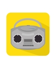 radio retro isolated icon vector image