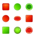 Round and square button icons set cartoon style vector image