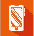 smartphone device flat icon vector image