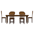 A dinning table vector image