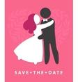 WEDDING ICON invitation card template vector image