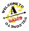 Madrid stamp rubber grunge vector image