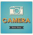 Camera shop Retro Poster vector image vector image