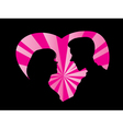 Silhouette of couple love vector image vector image