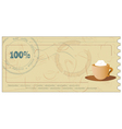 coffee coupon vector image vector image