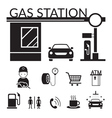 Gas Station and Service Objects icons Set vector image