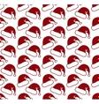 Santa claus hat seamless pattern vector image