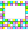 background of colored squares vector image