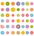 big set of colorful sewing buttons vector image