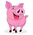 Funny pig cartoon vector image
