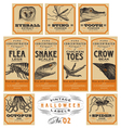 Funny vintage Halloween apothecary labels - set 02 vector image