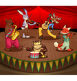 Musician animals on stage vector image