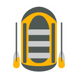 raft icon tourism equipment vector image
