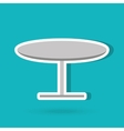round table design vector image