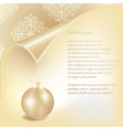 snowflakes under page curle vector image