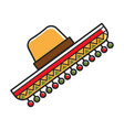sombrero hat for mexico travel destination vector image