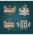 Soccer Badges Set vector image