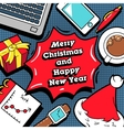 Christmas and New Year Business Greeting Card vector image