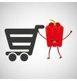 concept market buy cute fresh pepper vector image