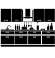 Icon of kitchen vector image vector image