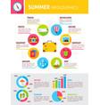 summer flat infographics vector image
